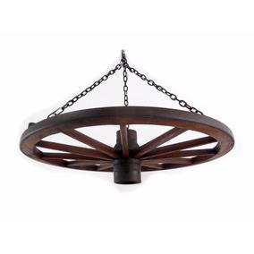 Lustre Luminária Roda Antiga De Carroça Tam. Gde. - E1