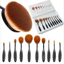 Kit De Pincel Para Maquiagem Oval Com 10 Pcs -pronta Entrega