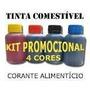 Kit Tinta Comestivel 400ml Papel Arroz House Of Printers