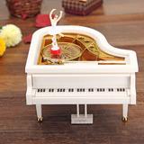 Caja De Música Cajita Musical Piano Con Alhajero Bailarina!
