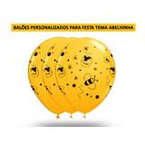 Balões Para Festa Da Abelhinha N°10 - 50 Und Frete Grátis