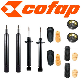Kit 04 Amortecedores Gol G1 Quadrado + Kits + Coxins - Novos