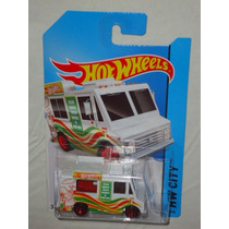 Hot Wheels Sweet Streets Camion De Pizza Blanco