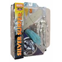 Boneco Silver Surfer Surfista Prateado Marvel Select