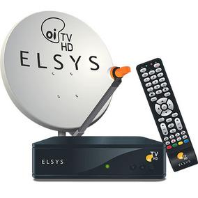 Kit Oi Tv Livre Receptor Hd + Antena + Lnbf + Kit Cabo
