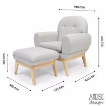 Cadeira De Amamentação De Madeira Revestimento Em Linho Top