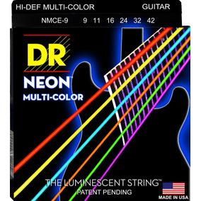 Cordas Guitarra Dr String Coloridas Neon 0.09/0.42 Rocksmith