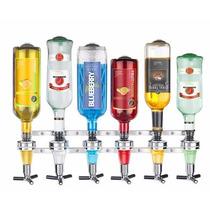 Suporte Dispenser Dosador Bebidas Drink Bar 6 Garrafas Top
