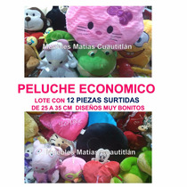 Lote 12 Pzas Peluche Economico Mayoreo Amor Fiesta Recuerdo