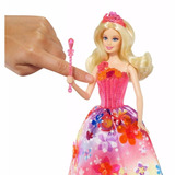 Barbie Princesa Portal Secreto Alexa Vestido Rosa Florido