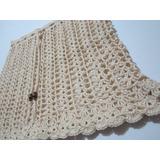 Falda Mini - Tejida A Crochet / Talla S / Color Crudo