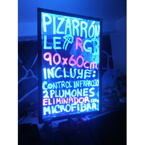 Pizarron Acrílico Led 90x60cm Inalambrico Anuncio Luminoso
