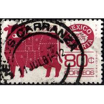1532 Exporta Papel Liso F B 2 L 11x11 2°p 80c Usado N H 1981