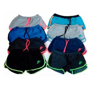Kit 5 Shorts Moletom Nike Feminino Aproveite Promoção
