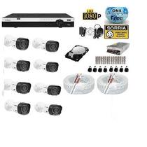 Kit 8 Cameras Hdcvi 1010 Infra Dvr 8 Canais Intelbras Tribid