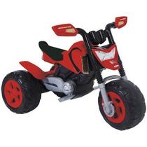 Moto Elétrica Infantil Elite Triciclo Vermelha Criança