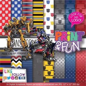 Kit Digital Editavel Scrapbook Transformers