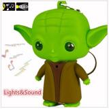 Chaveiro Star Wars - Mestre Yoda Com Sons E Luzes