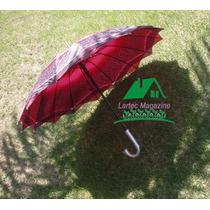 12 Guarda Chuva/sombrinha Reforçado Contra Vento Teto Duplo