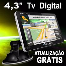 Navegador Gps Automotivo 4.3 Discovery 3d Tv Digital Radar