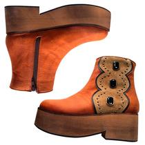 Botas De Mujer Borcegos Zapatos Calzado Urbano Dia Piedras