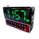 Rádio Relógio Digital Mp3 Sd Usb Auxiliar Despertador