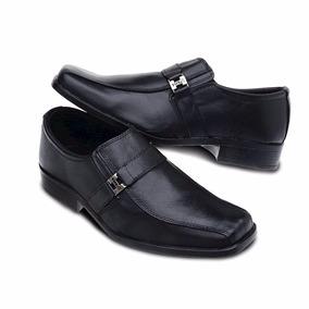 Sapato Social Masc. Em Couro Com Meia De Brinde Frete Gratis