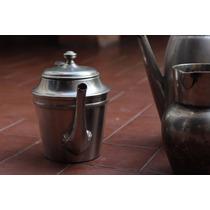 Tetera O Cafetera De Acero Inoxidable Antigua.