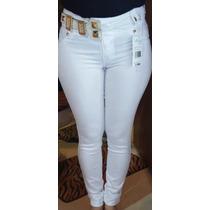 Calça Branca Rhero Detalhes Dourado C/bojo Tamanhos 36 Ao 50