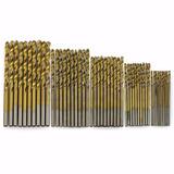 Kit 50 Brocas De Titanium Madeira Aluminio Plastico 1 A 3 Mm