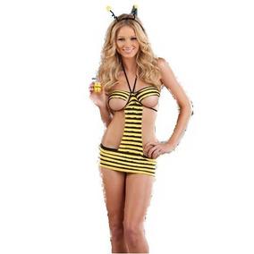 Disfraz Abejita Para Fiesta Halloween Talla M Amyglo