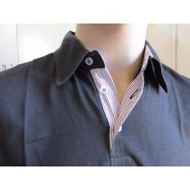 Camisa Polo Masculina Cor Preta 100% Algodão