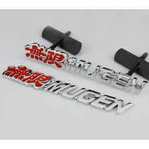 Emblema Mugen Grade Civic New Si Honda Vermelho Jdm Type R