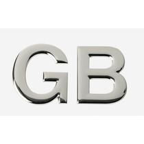 Insignia De Auto Sumex Cromada Emblema De Gb 58mm X 47mm