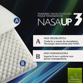 Travesseiro Viscoelástico Fibrasca Toque Macio - Nasa Up3