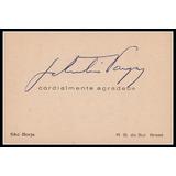 Assinatura - Getúlio Vargas - Cartão Usado Na Fazenda