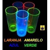 Kit 100 Copos Long Drink Neon Acrílico - Incrível!