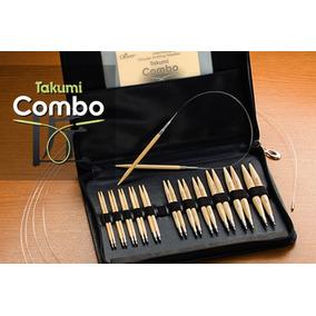 Kit Estojo De Agulhas Para Tricô E Crochê Em Bambu Clover