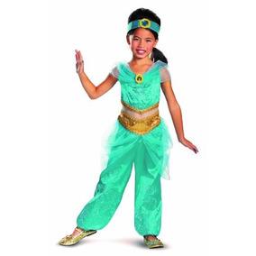 Disfraz Aladdin De Disney Jazmín Sparkle Deluxe Chicas Traj