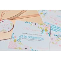 60 Invitaciones Para Casamiento, Tarjetas, Participaciones