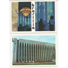 2 Cartões Postais Antigos - Brasília - Anos 70 -cod. 98
