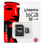 Memoria Micro Sd 16 Gb Clase 10 Kingston Sellado