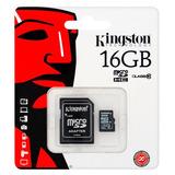 Memoria Micro Sd 16 Gb Clase 10 Kingston Sellado