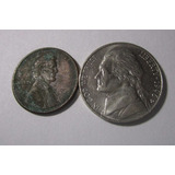 2 Moneda Usa 1 Y 5 Centavos 1993 - 1996 Lote U5