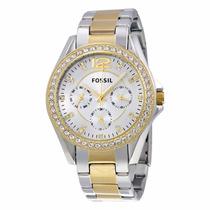 Reloj Fossil Es3204 Plata Dorado Dama Original Envío Gratis*