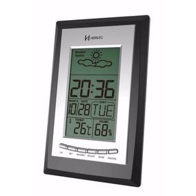 Despertador 2970 Digital Termohigrômetro Tempo Prata Herweg