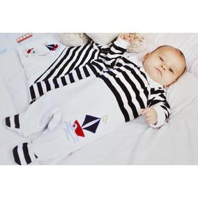 Saída Maternidade Fofinho Marinheiro Azul Pronta Entrega