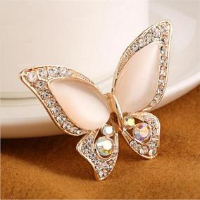 Prendedor Dije Broche Mariposa Moda Dama Perla Imitación