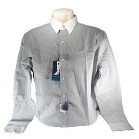 Camisa Nautica Masculina Social Cinza + Frete Grátis