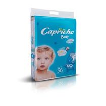 Kit 3 Fralda Capricho Baby Jumbo (xxg) 168 Unidades + Brinde